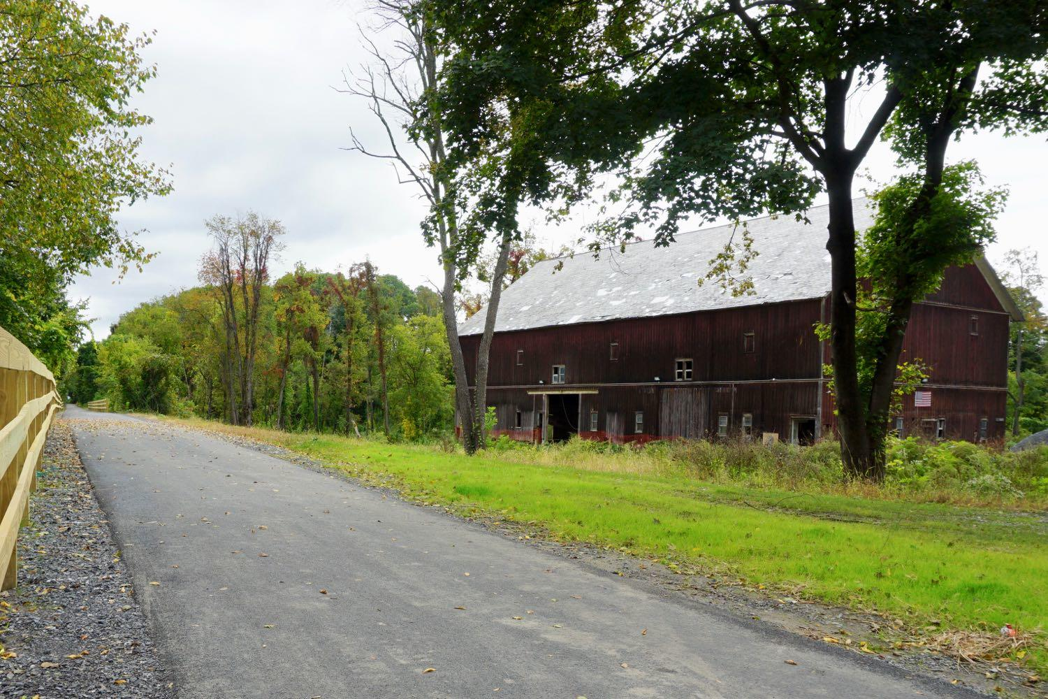 Hilton Barn next to the rail trail