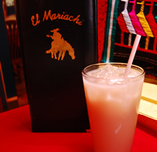 Horchata at El Mariachi