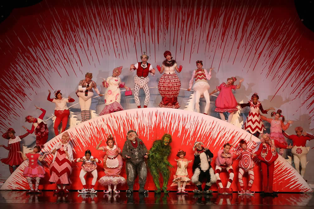 How The Grinch Stole Christmas Musical on stage