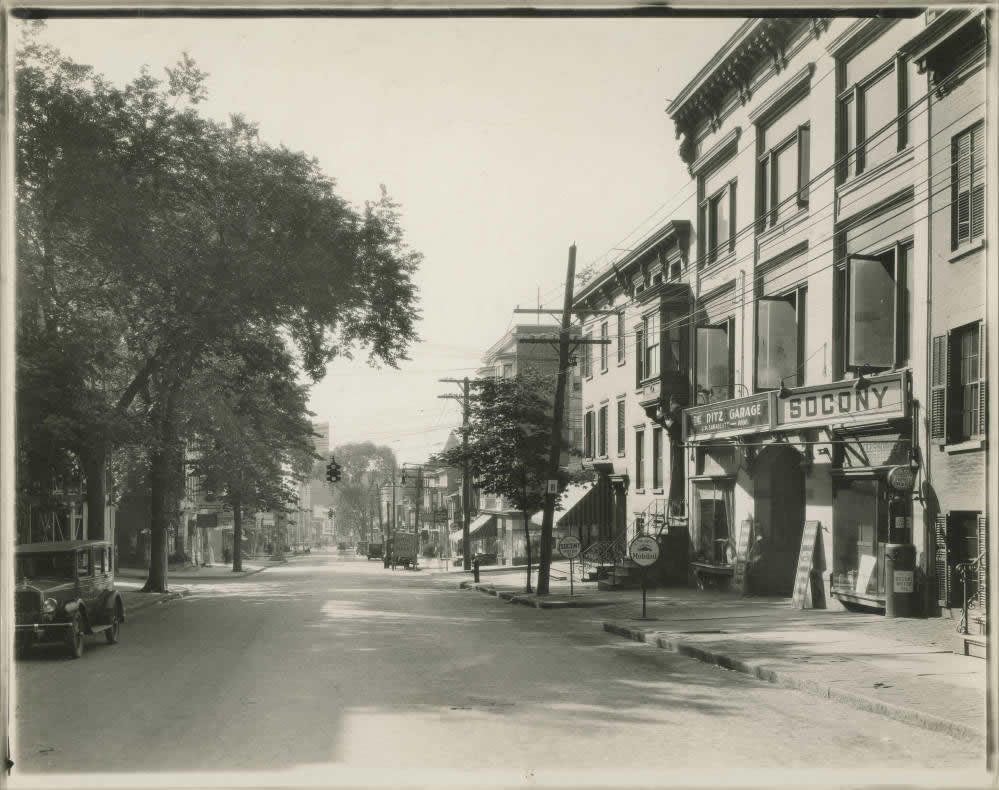 Hudson Ave at Swan Street Albany maybe 1920s