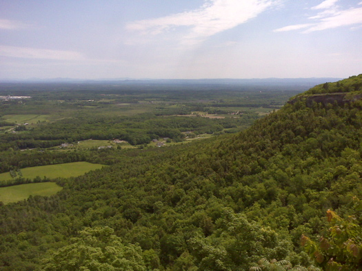 Indian Ladder trail view at Thacher State Park