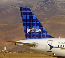 JetBlue airplane tail