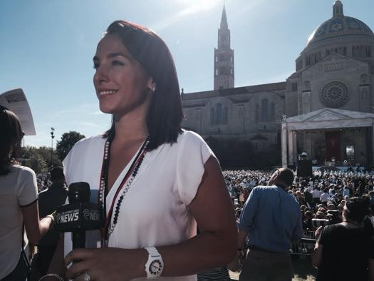 Karen Tararache covering Pope in DC