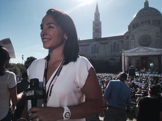 Karen Tararache covering Pope in DC
