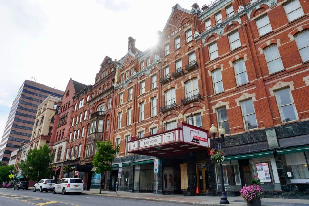 Kenmore Hotel Albany exterior wide 2018-August
