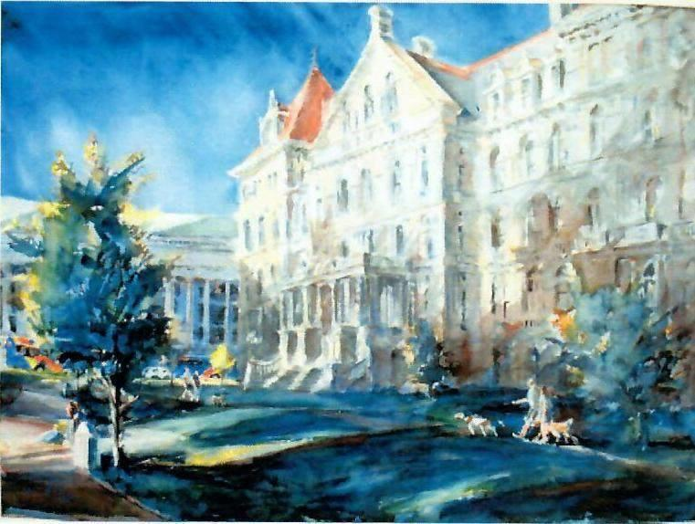 Kevin Kuhne New York State Capitol watercolor