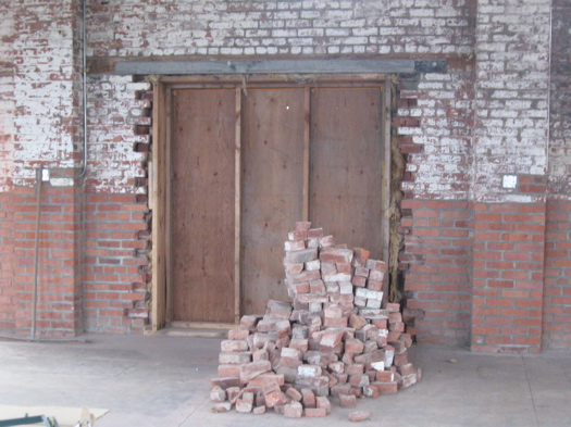 Knighton's pile of brick.JPG