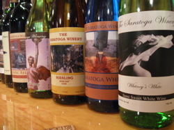 Saratoga Winery labels