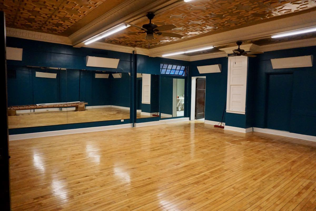 Lark Hall 2018-July yoga studio