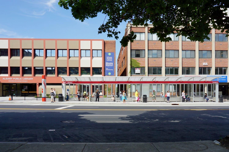 Lark Library CDTA bus stop