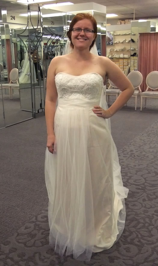 Lauren wedding Davids Bridal gown
