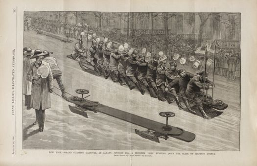Leslies bobsledding albany jan 30 1886
