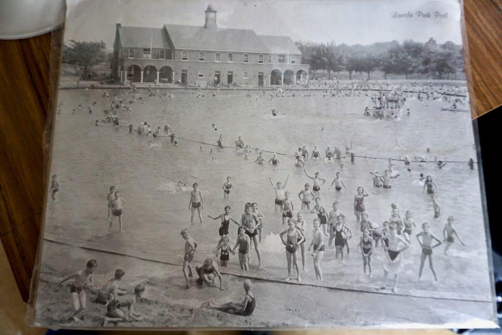 Lincoln Park Pool undated historical photo in lifeguards office