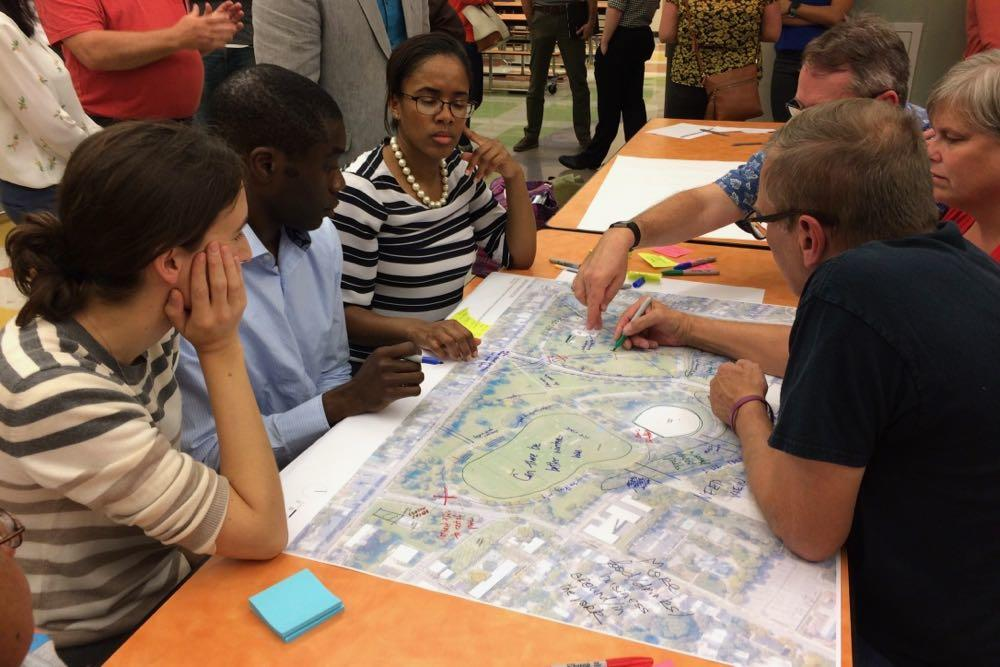 Lincoln Park planning meeting 2018-10-09 group table