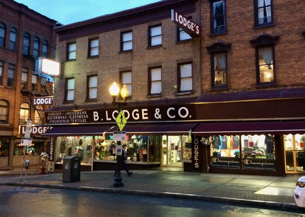 B. Lodge & Co exterior evening