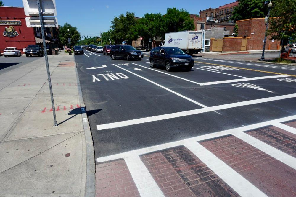 Madison Ave road diet finished at Lark
