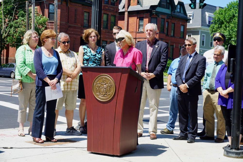 Madison Ave road diet finished press conference Virginia Hammer
