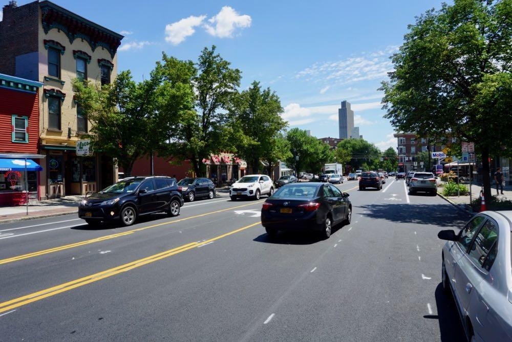 Madison Ave road diet finished near Lark