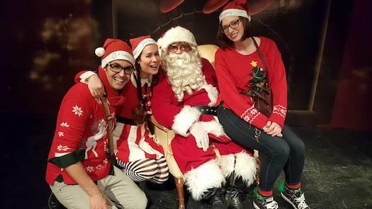 McDermott as Santa with Adults