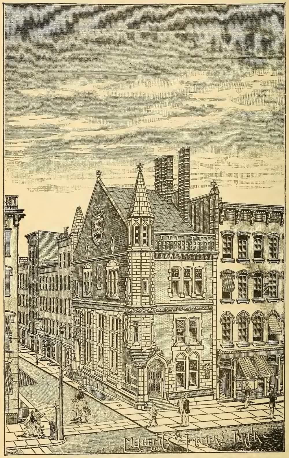 Mechanics and Farmers Bank History of Albany illustration