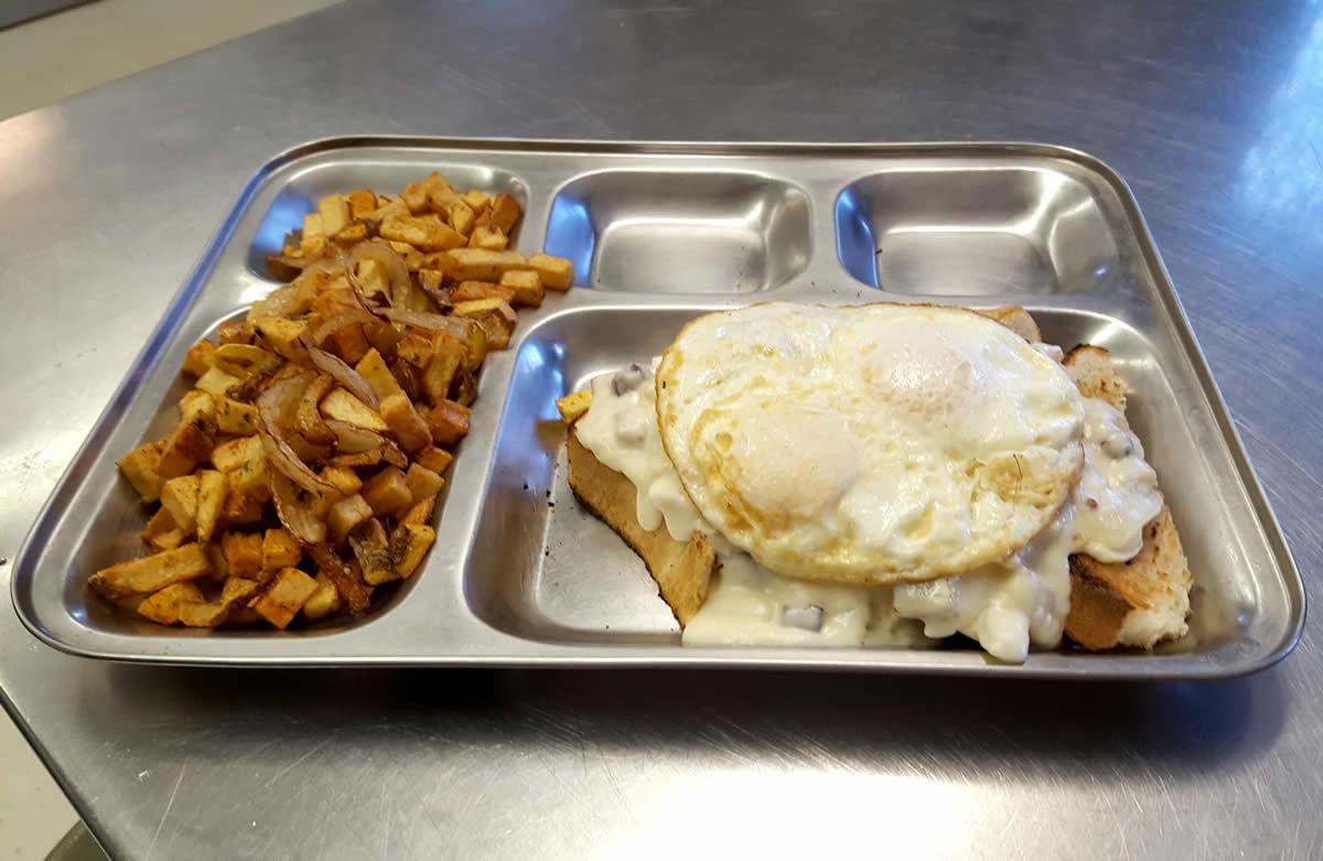 Mess Hall breakfast SOS