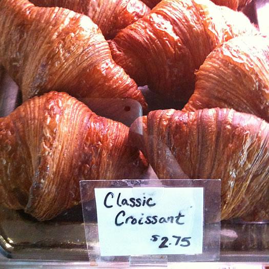 Mrs Londons croissants in case