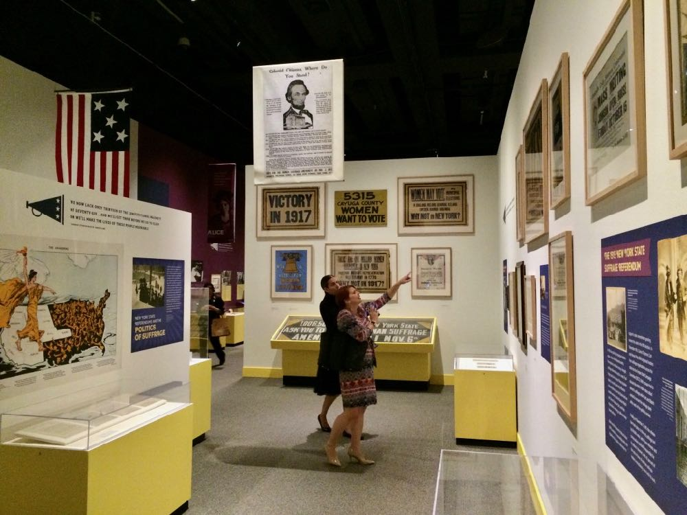 Votes for Women suffrage exhibit at New York State Museum