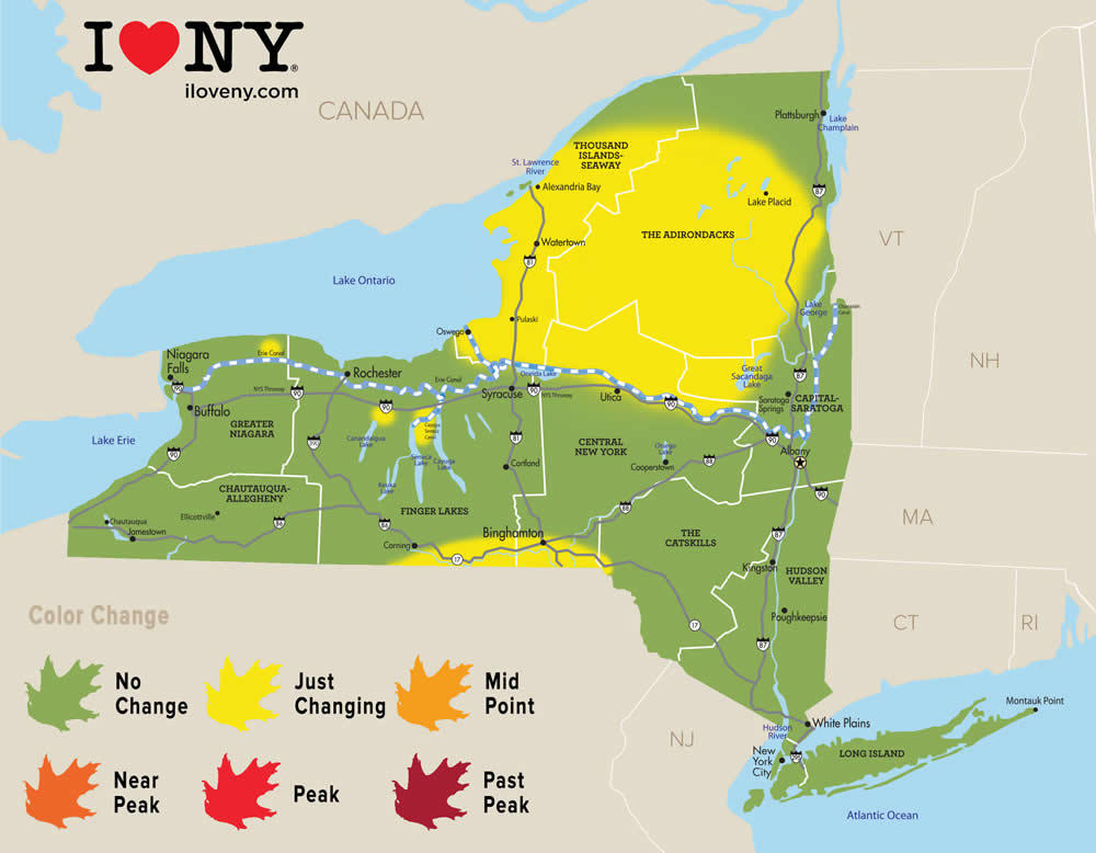 Fall foliage maps 2018 | All Over Albany