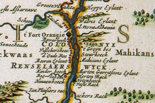 New Netherland 1684 map Rensselaerwijck
