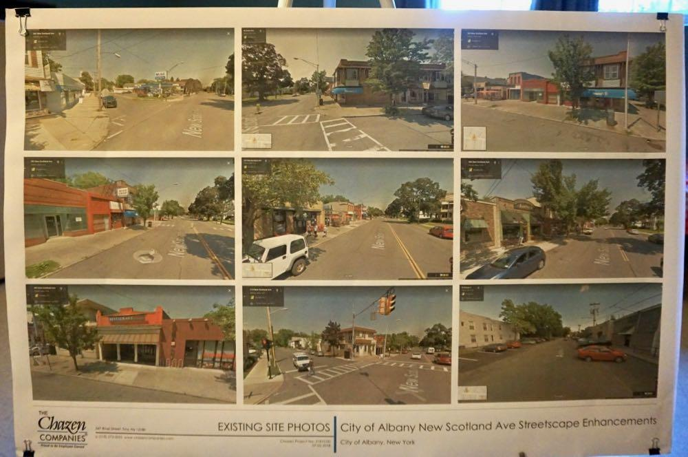 New Scotland Ave Helderberg commercial strip plan existing conditions poster