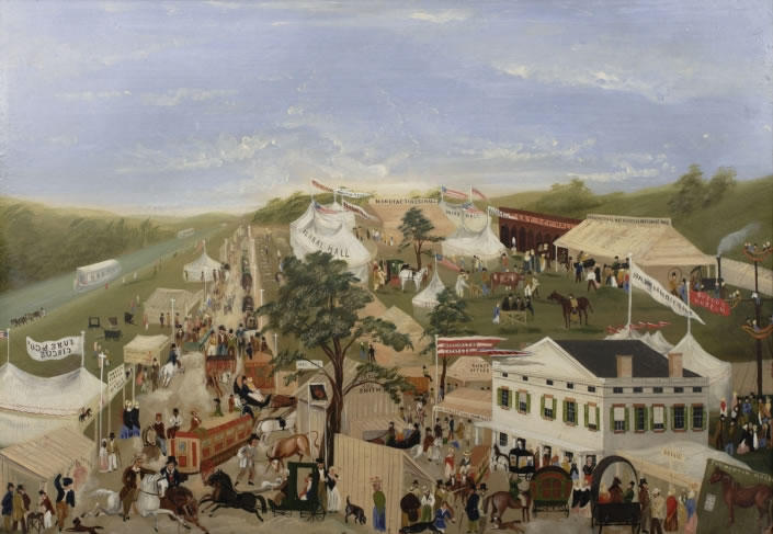 New York Agricultural Fair of 1850 by John Wilson - Albany Institute