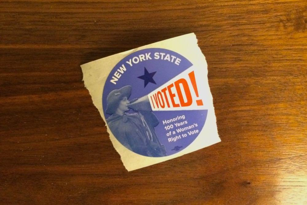 New York State I Voted sticker