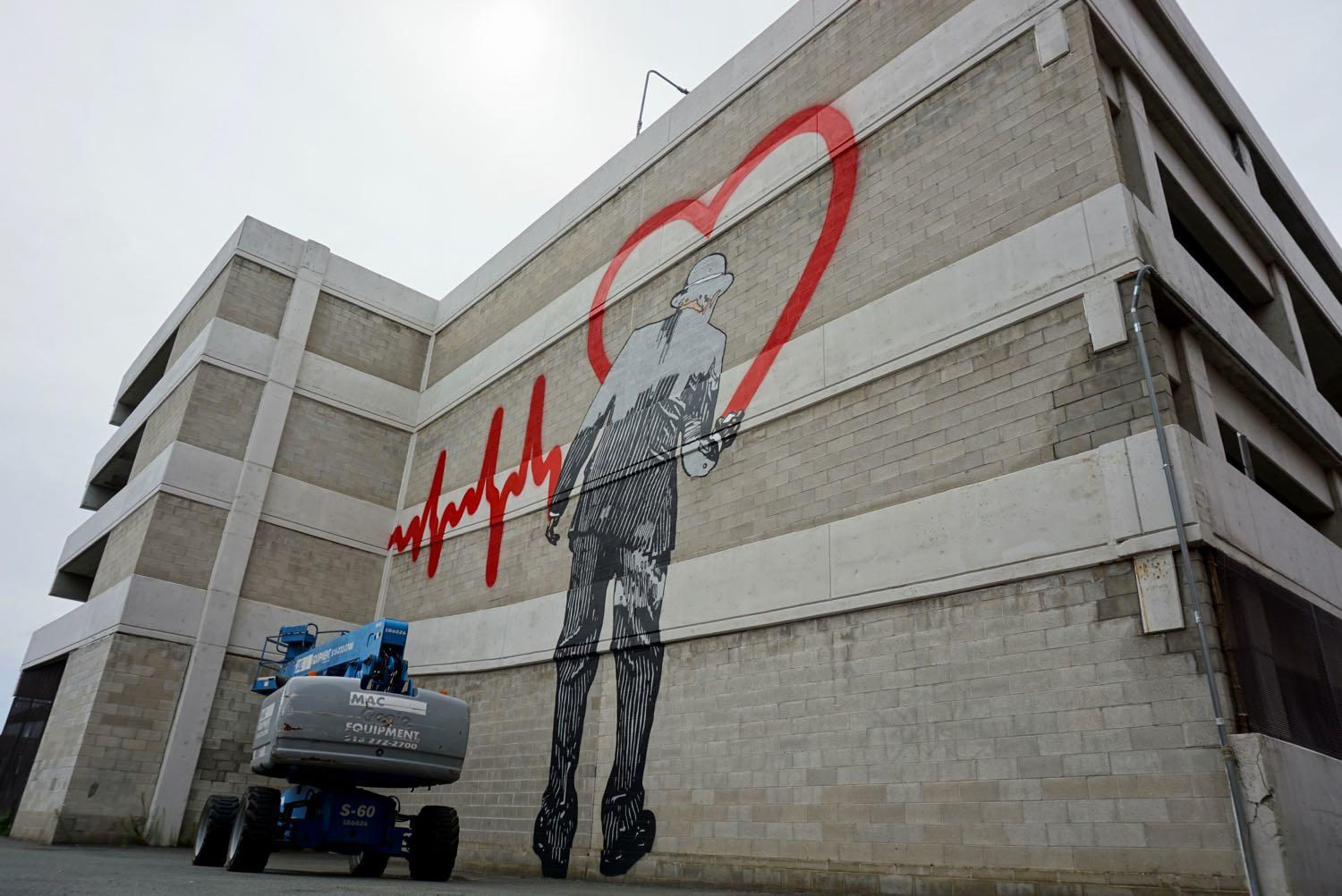 Nick Walker Vandal mural Love Goes On Albany NY almost finished