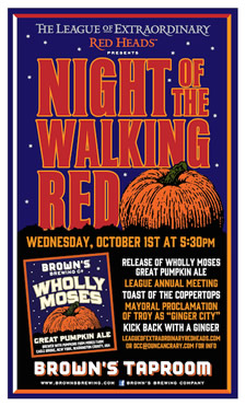 Night of Walking Red Poster 2014