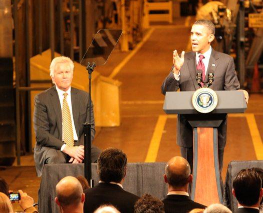 Obama Visit Immelt