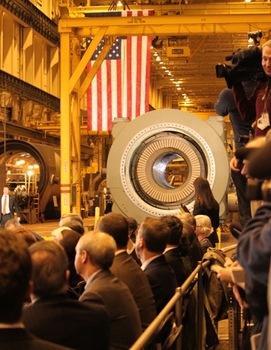 Obama Visit Turbine