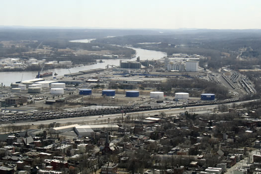 Port of Albany from Corning Tower