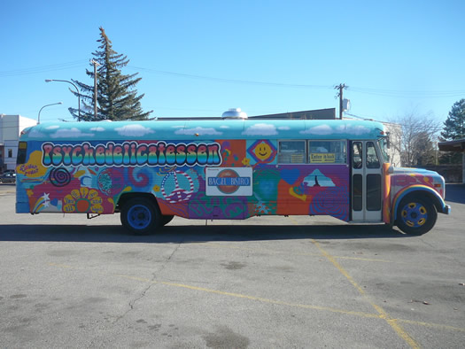 Psychedelicatessen bagel bus Idaho