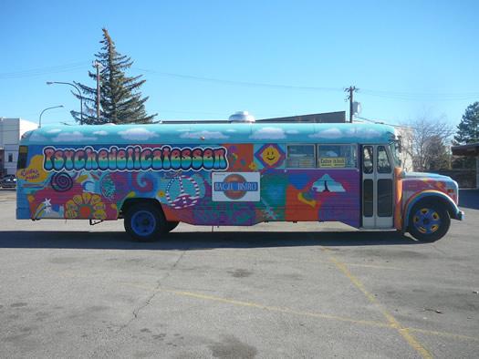Psychedelicatessen bagel bus Idaho
