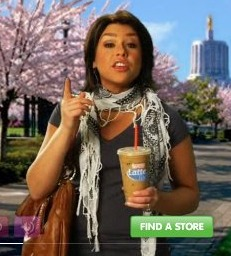 Rachael Ray Dunkin Donuts scarf ad