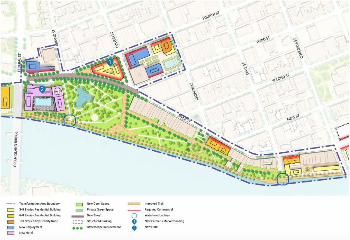 Realize Troy draft downtown riverfront reconfig plan