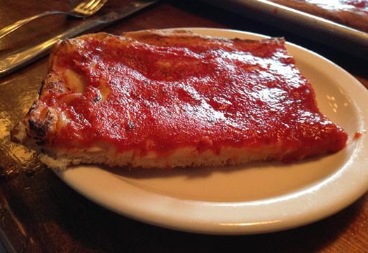 Red Front COB pizza closeup