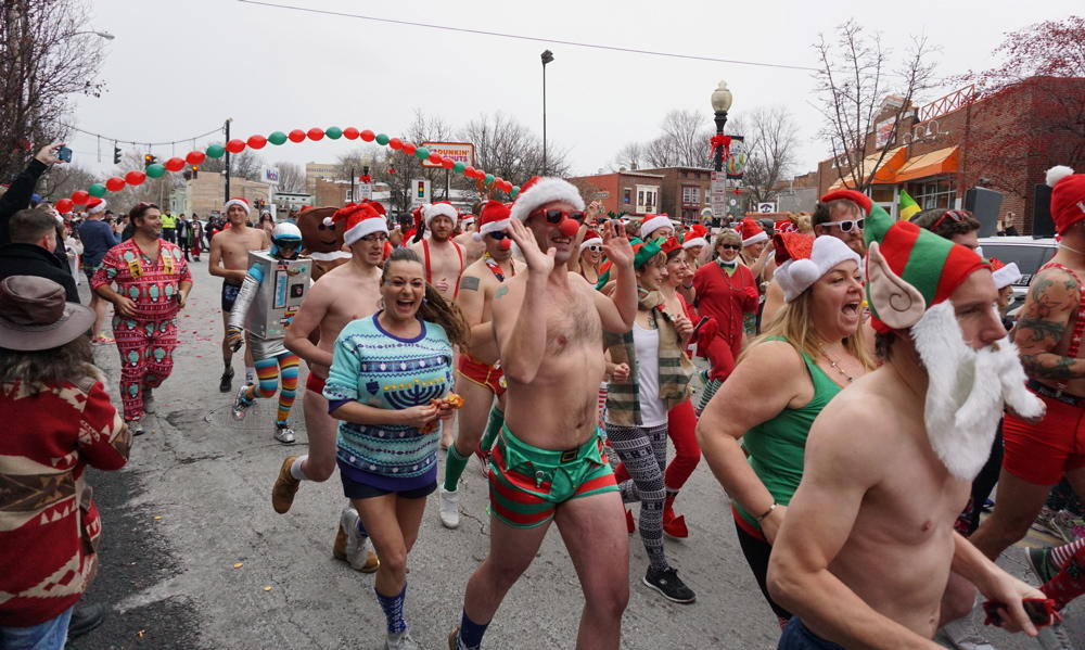 Santa Speedo Sprint