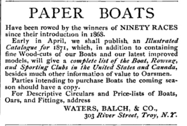Water, Balch paper boats ad