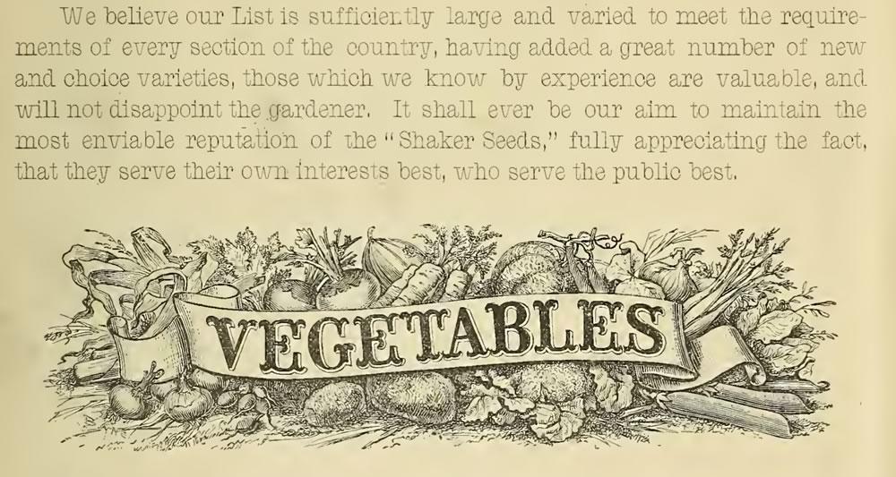 Shaker seed catalog clip 1888