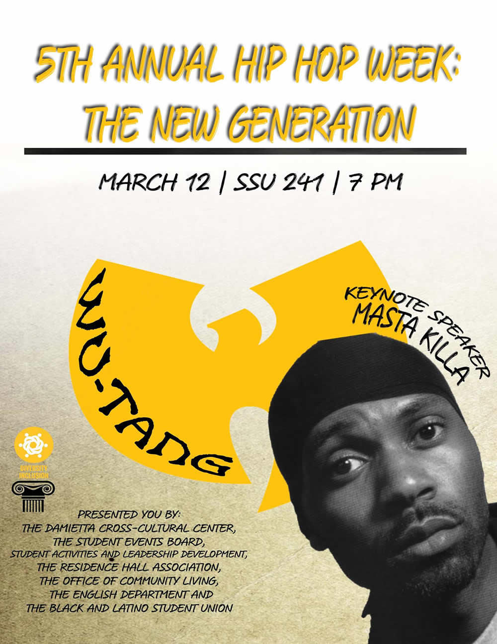 Siena Hip Hop Week 2018 poster Masta Killa