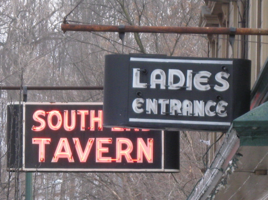 South End Tavern signs