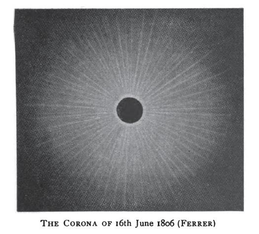 Solar eclipse 1806-June-16 corona Ferrer