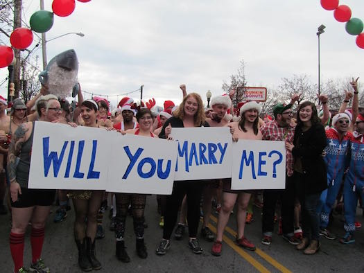 Speedo Sprint Marry me sign.jpg