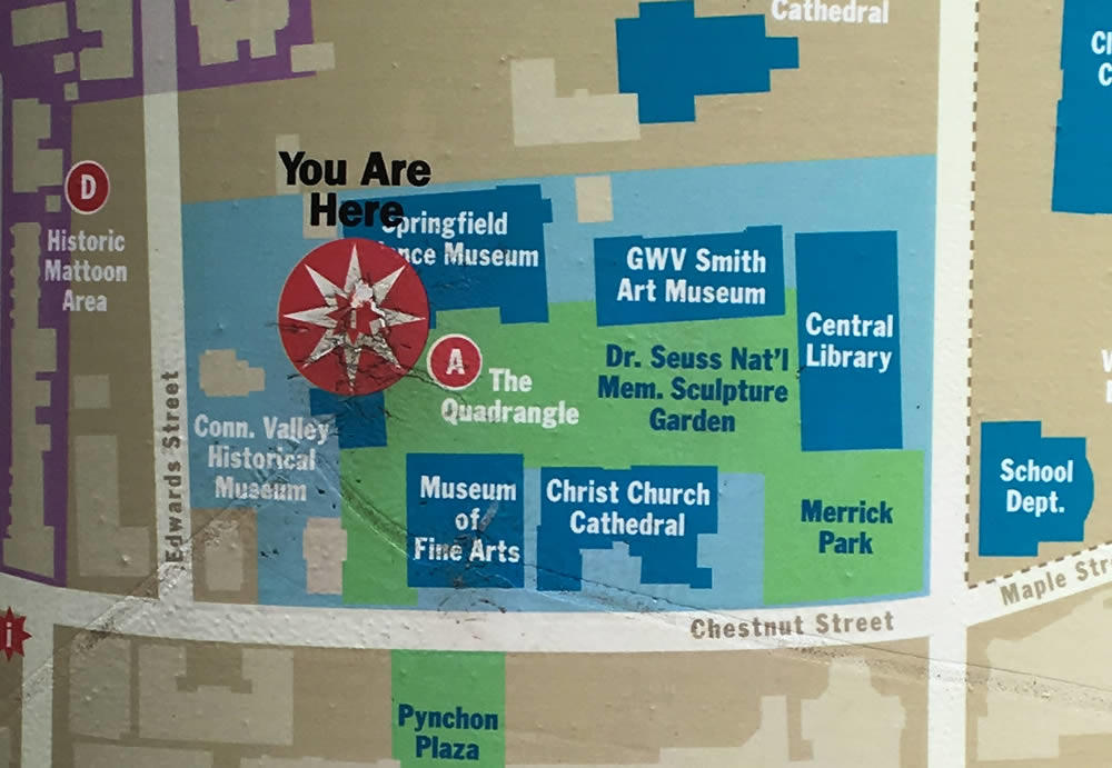 Springfield Museums map